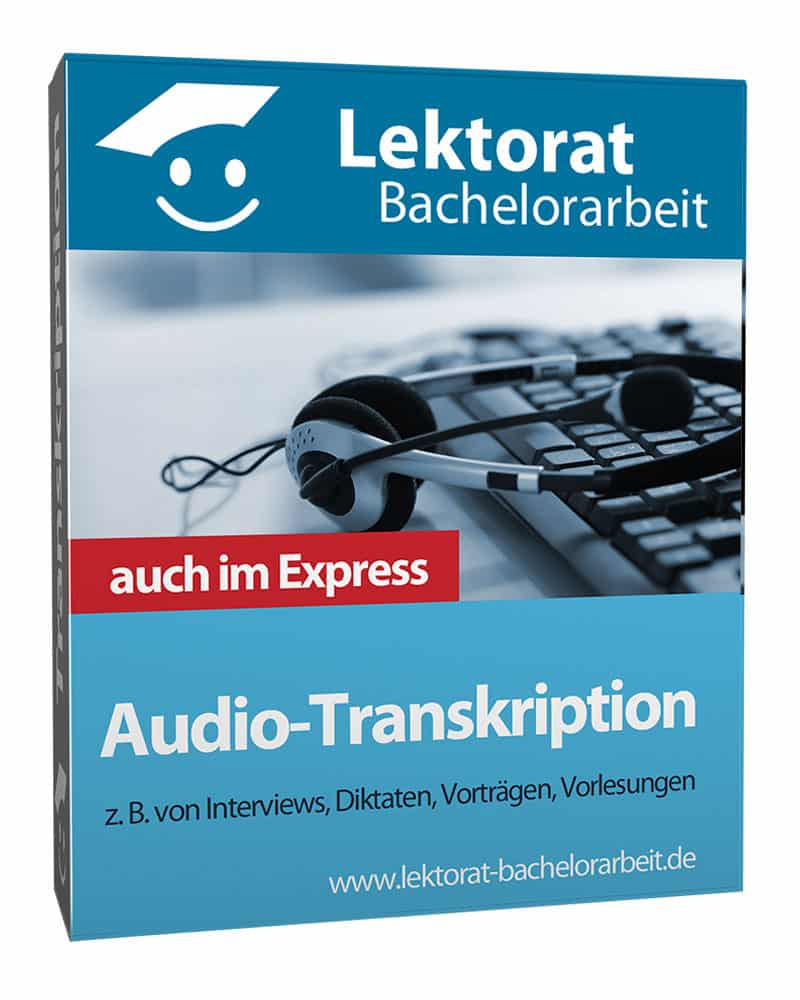 Audio-Transkription von Interviews einer Bachelorarbeit