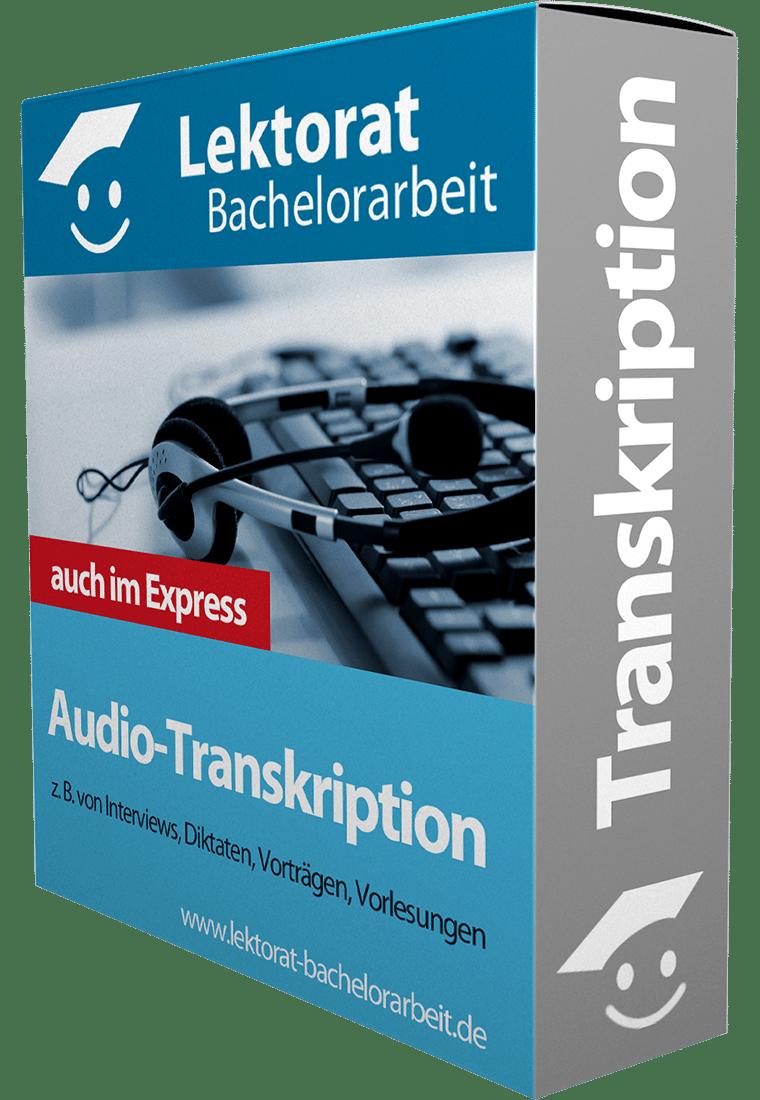 Express Audio-Transkription von Interviews einer Bachelorarbeit - auf Deutsch, Englisch, Französisch, Spanisch, Italienisch