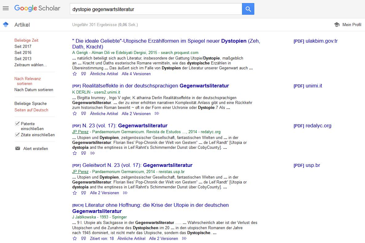Literaturrecherche mit Google Scholar