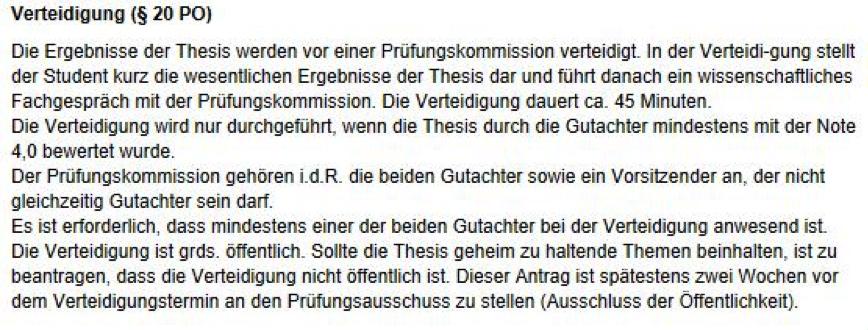 Ausschnitt aus der Prüfungsordnung BA Leipzig