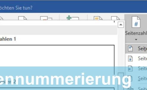 Seitennummerierung