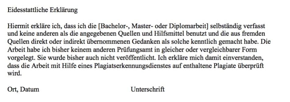 Hinweise der Universität Trier