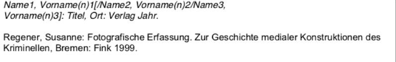 Monografien nach der deutschen Zitierweise im Literaturverzeichnis