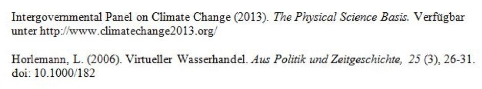 Internetquelle im APA-Stil im Literaturverzeichnis