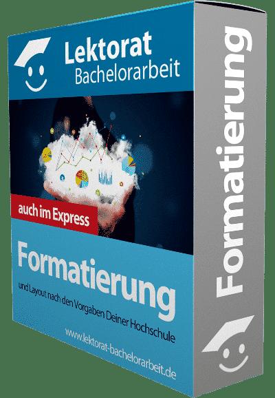 Bachelorarbeit Formatierung - auch im Express formatieren lassen